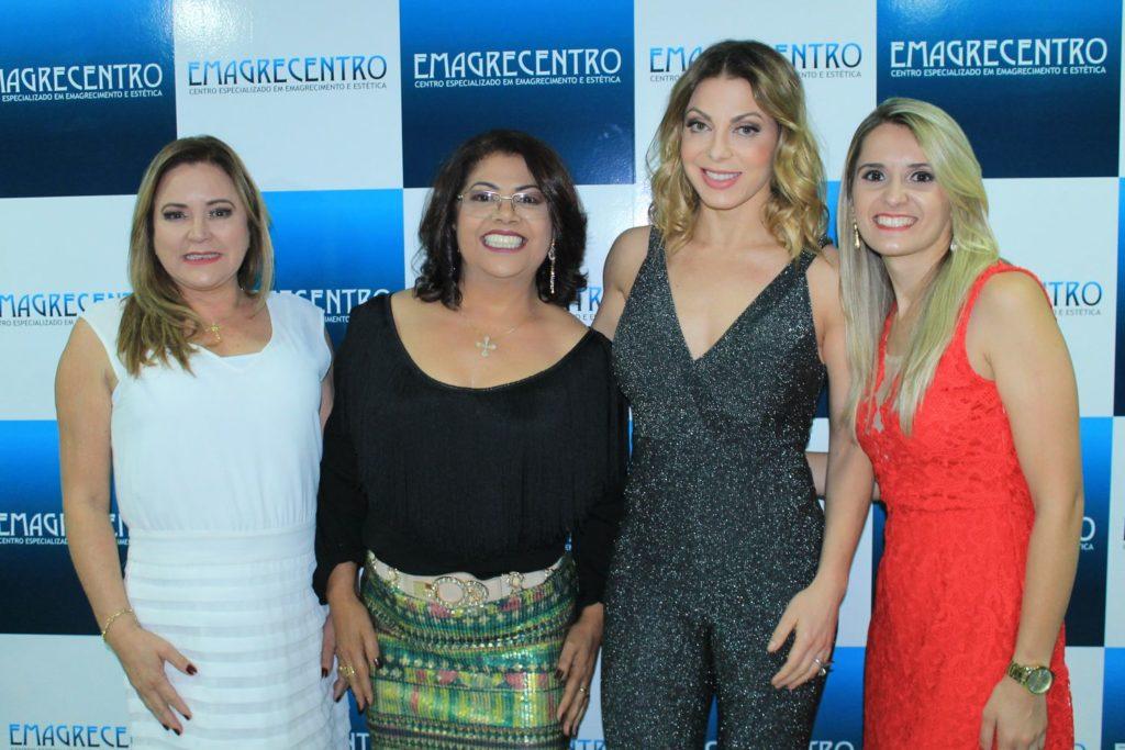 Sheila Mello e proprietárias da Clinica Jo Catto, Luciane e Mariana Souza